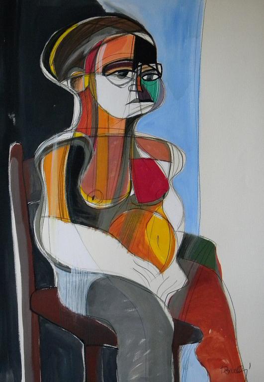 Donna seduta - Gabriele Donelli - Acrilico - 1300 €