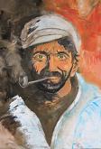 Il fumatore di pipa - Santina Mordà - Olio - 250€