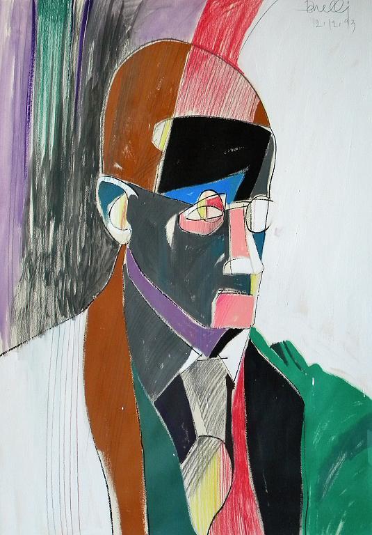Ritratto di James Joyce - Gabriele Donelli - Pastello e acrilico - 300 €
