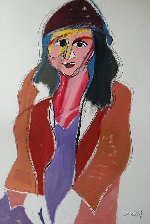 Ritratto di Alina Reyes - Gabriele Donelli - Acrilico - 400 €