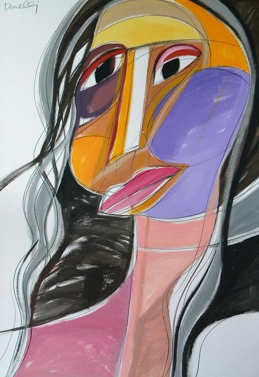 Ritratto di ragazza - Gabriele Donelli - Acrilico - 1100 €
