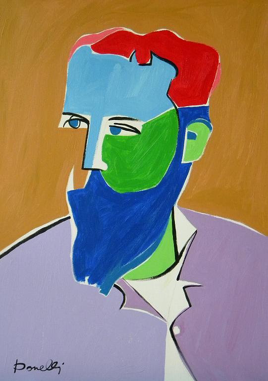 Ritratto di Claude Monet - Gabriele Donelli - Acrilico - 800 €
