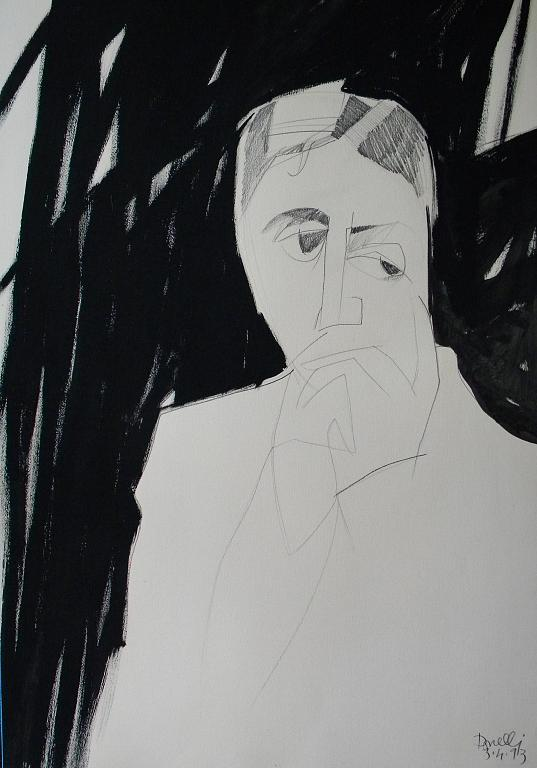 Ritratto di Marcel Proust - Gabriele Donelli - Matita e acrilico - 300 €