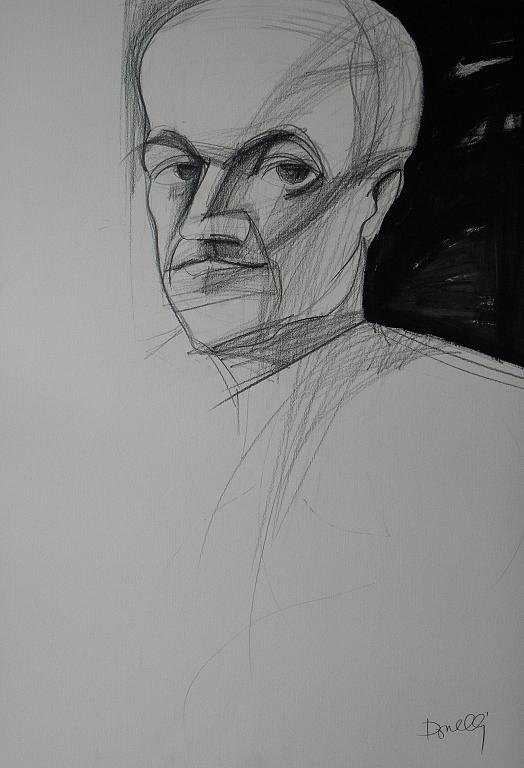 Ritratto di Italo Svevo - Gabriele Donelli - Matita e acrilico - 300 €