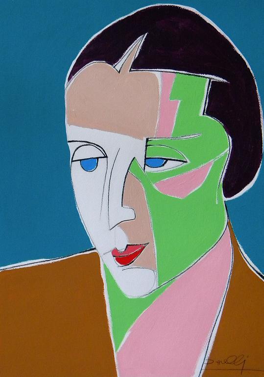 Ritratto di Tamara de  Lempicka - Gabriele Donelli - Acrilico - 400 €