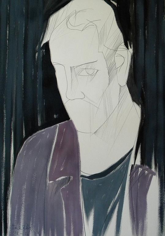 Ritratto di Francesco De Gregori - Gabriele Donelli - Matita e acrilico - 600 €