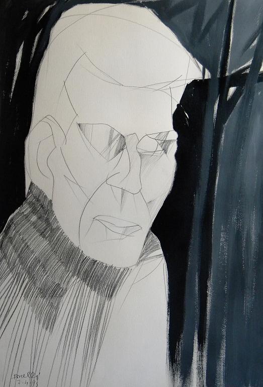 Ritratto di Samuel Beckett - Gabriele Donelli - Matita e acrilico - 300 €