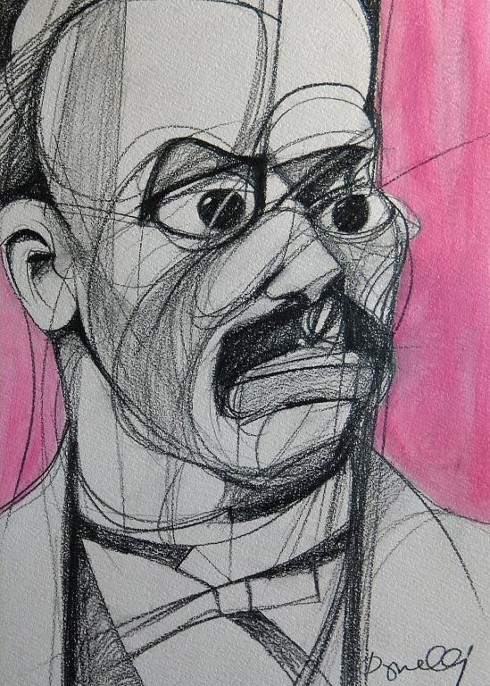 Ritratto di Friedrich Wilhem Nietzche - Gabriele Donelli - Matita e acrilico - 700 €