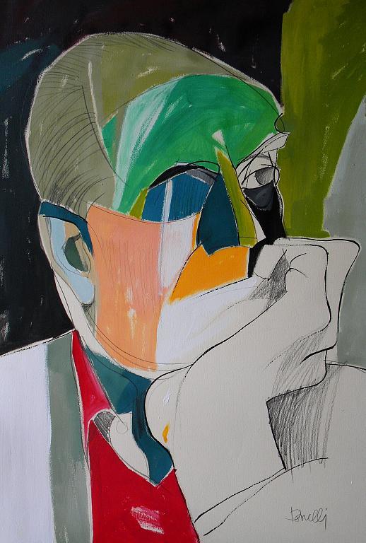 Ritratto di Alberto Moravia - Gabriele Donelli - Acrilico - 400 €