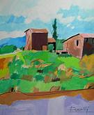 Casolari in prossimità delle colline - Gabriele Donelli - Acrilico - 300€