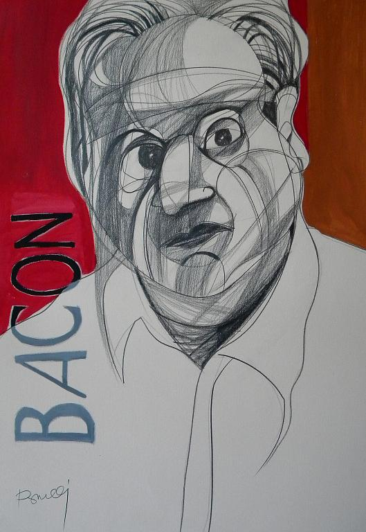 Ritratto di Francis Bacon - Gabriele Donelli - Matita e acrilico - 900 €