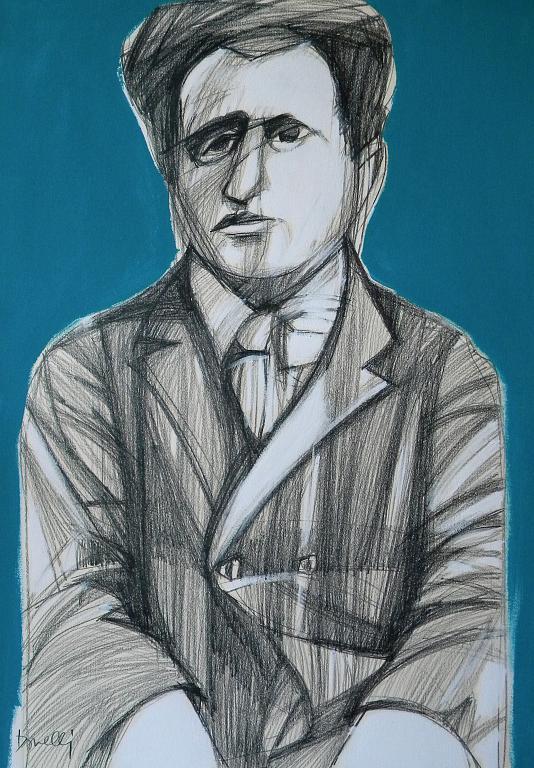 Ritratto di Federigo Tozzi - Gabriele Donelli - Matita e acrilico - 800 €