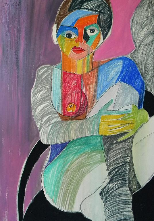 Ritratto di donna - Gabriele Donelli - Pastello e acrilico - 400 €