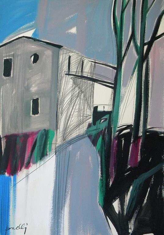 Paesaggio in grigio - Gabriele Donelli - Matita e acrilico - 400 €