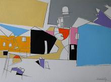 Paesaggio con la neve - Gabriele Donelli - Acrilico - 400€
