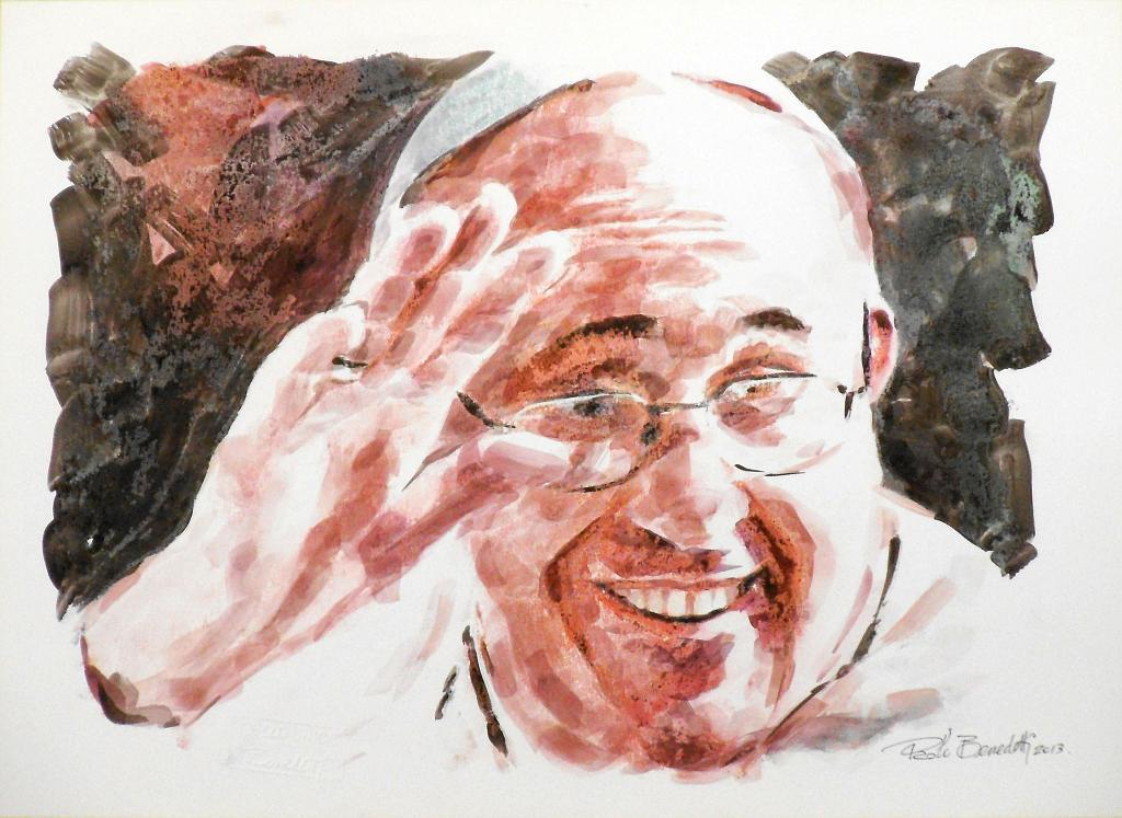Papa Francesco 3 - Paolo Benedetti - Acrilico - 100 €