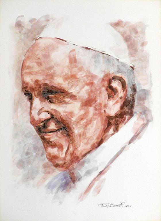 Papa Francesco 6 - Paolo Benedetti - Acrilico - 100 €