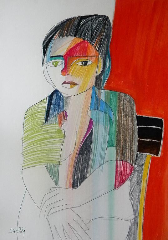 Ritratto di Giuseppina - Gabriele Donelli - Pastello e acrilico - 300 €