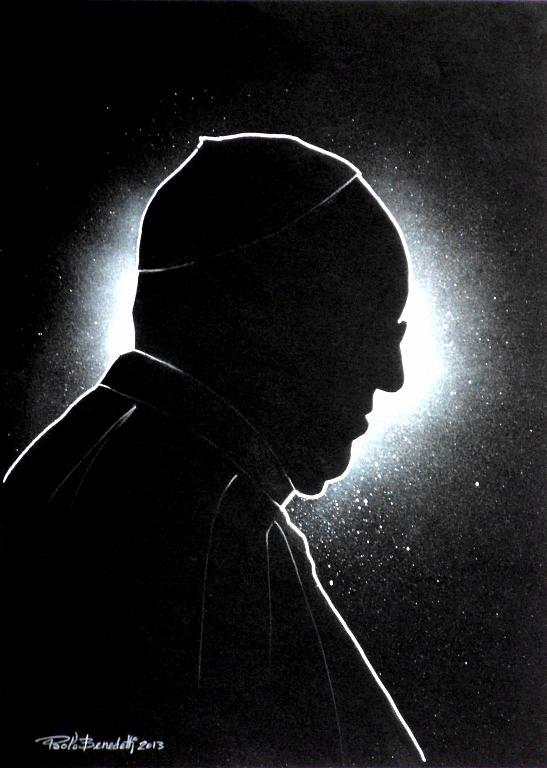Papa Francesco 8 - Paolo Benedetti - Acrilico - 100 €