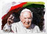 Papa Francesco 10 - Paolo Benedetti - Acrilico - 100€