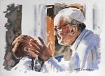 Papa Francesco 11 - Paolo Benedetti - Acrilico - 120 €