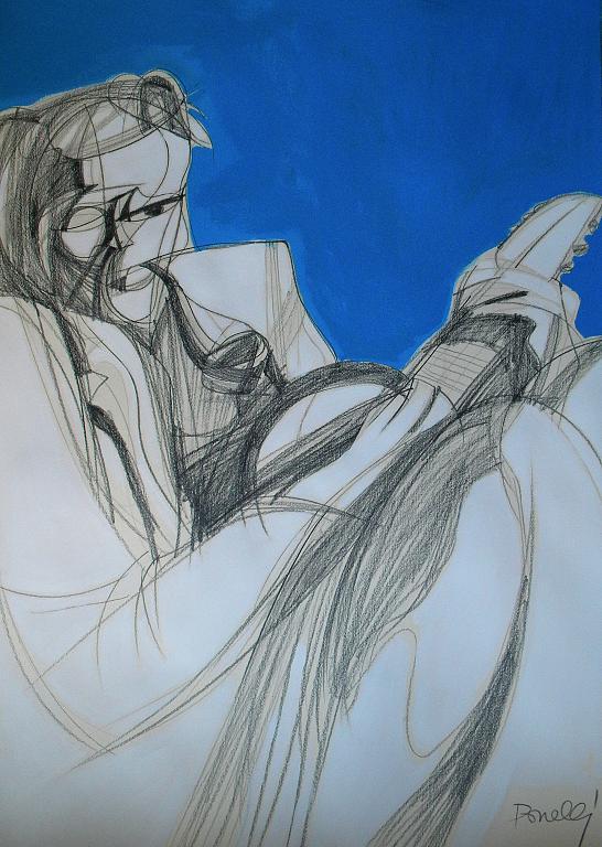Ritratto di Wols - Gabriele Donelli - Matita e acrilico - 1300 €