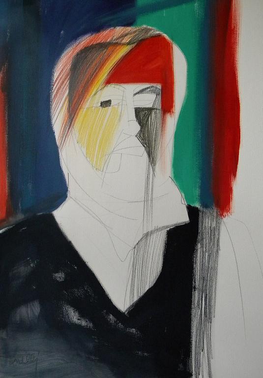 Autoritratto - Gabriele Donelli - Pastello e acrilico - 400 €
