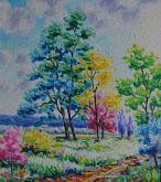 alberi in fiore - michele la sala - Olio