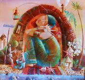 """""""Suoni del mare. Casa della tartaruga."""" - Viktoriya Bubnova - Olio"""