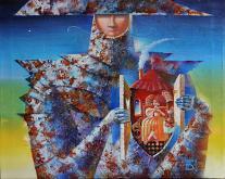 LA DAMA DEL MIO CUORE  - Viktoriya Bubnova - Olio - 300€