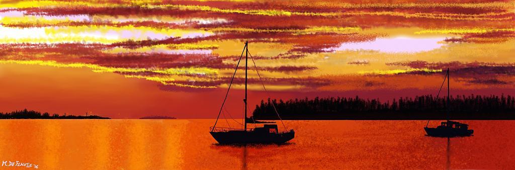 Cielo, mare...e barche - Michele De Flaviis - Digital Art
