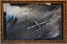 Boeing B-17E - Lucio Forte - Acrylic, oil, ink on wood - 890€