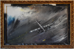 Boeing B-17E - Lucio Forte - Acrylic, oil, ink on wood - 890 euro