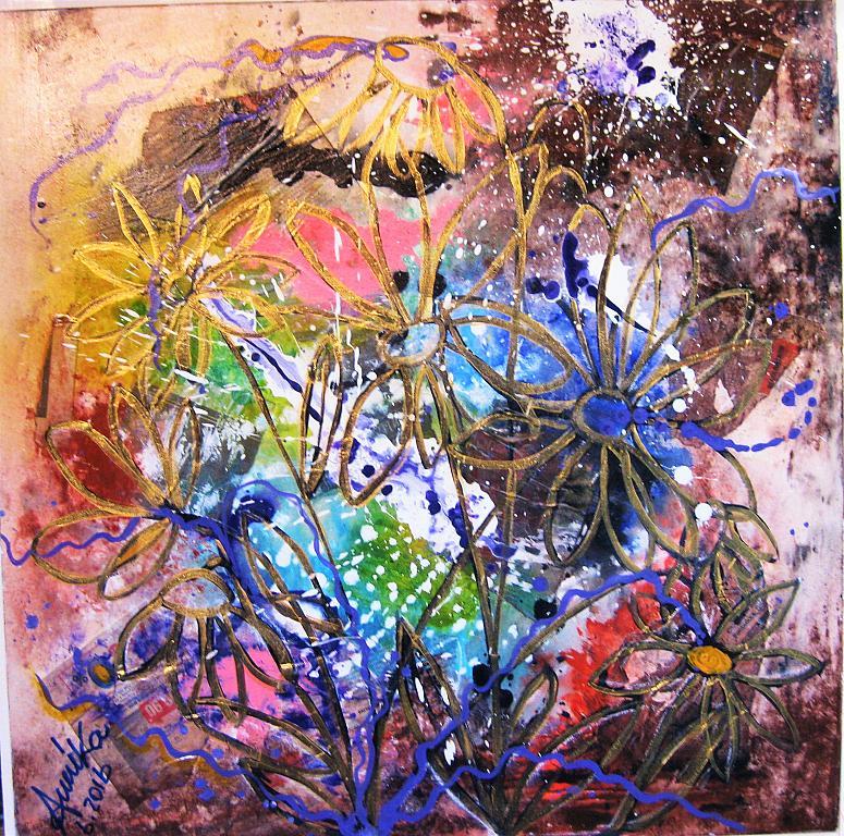 Flowers - anna casu - Acrilico