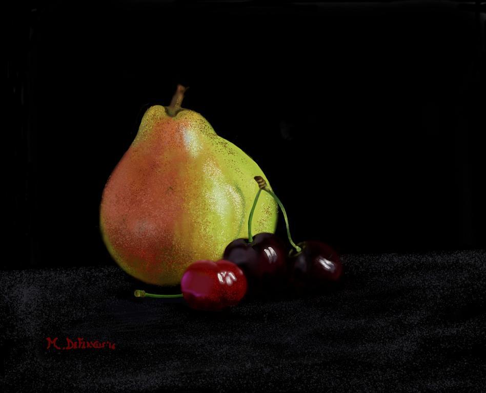 Pera e ciliege - Michele De Flaviis - Digital Art
