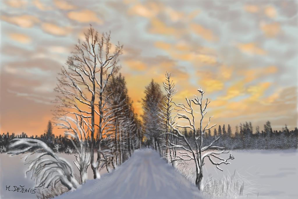 Inverno svedese - Michele De Flaviis - Digital Art - 200 €