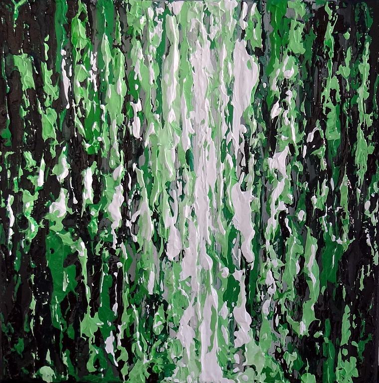 Range of emotions - verde - Daniela Pasqualini - Acrilico
