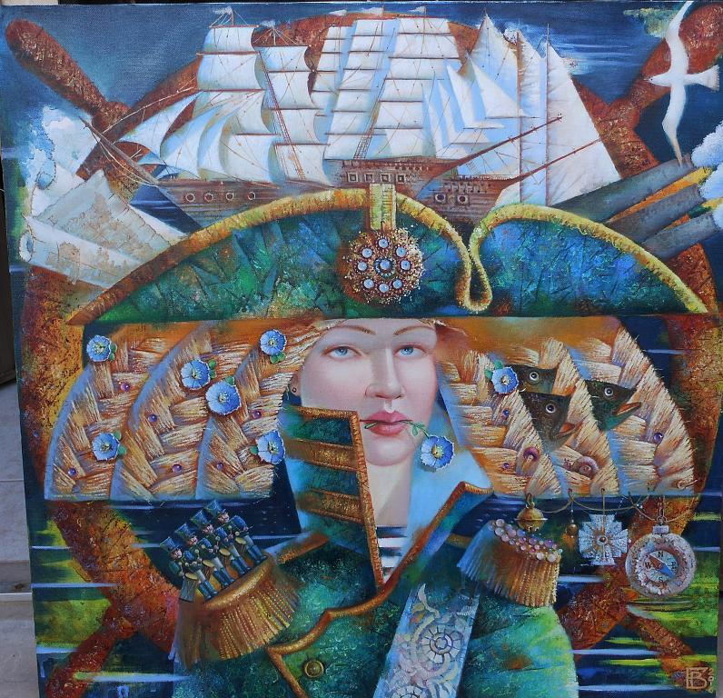 LUPA DI MARE - Viktoriya Bubnova - Olio
