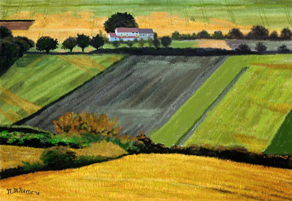 Paesaggio rurale - Michele De Flaviis - Digital Art