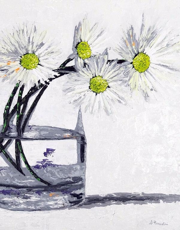 The blossoming flowers - Daniela Pasqualini - Olio