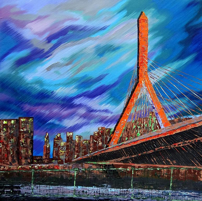 Zakim bridge - Boston - Daniela Pasqualini - Olio