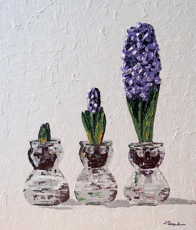 Purple Flourish - Daniela Pasqualini - olio e acrilico
