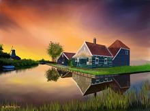 Paesaggio olandese - Michele De Flaviis - Digital Art