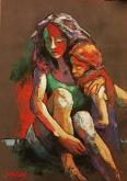 Apprensione di madre - SILVIA RIDOLFI - Pastelli - 300€
