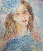Magia della neve - Ruzanna Scaglione Khalatyan - Acquerello