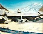 Paesaggio invernale di fiaba - mario fanconi - Olio