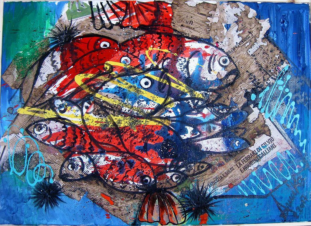 Mercato del pesce - anna casu - Acrilico