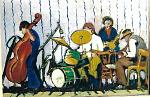 Orchestrina Jazz - mario fanconi - Olio