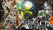 Trittico - Lucio Forte - Action painting - 1500€