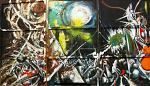 Triptych - Lucio Forte - Action painting - 1500 €